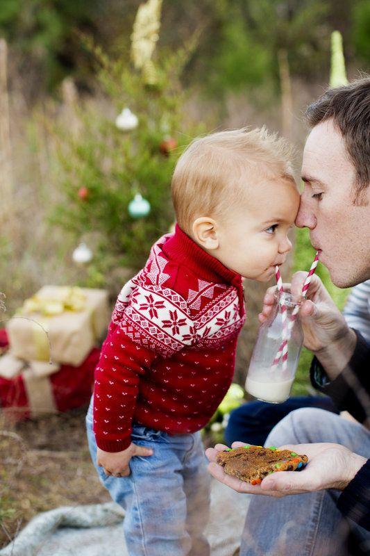 baby dad at Christmas